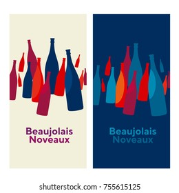 beaujolais nouveau concept abstract vector poster. vine idea illustration.