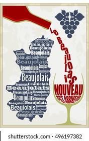 Beaujolais Nouveau vector