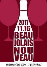 Beaujolais nouveau vector background
