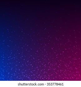 Beautidful colorful glowing sparkles background. Vector illustration.