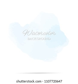 beautiful abstract blue watercolor art hand paint on white background,brush textures for logo.There is a place for text.Perfect stroke design for headline.luxury boutique Illustrations.