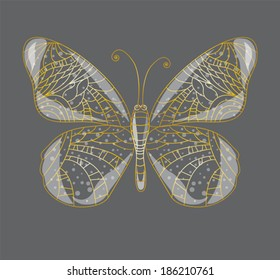 Beautiful abstract butterfly.