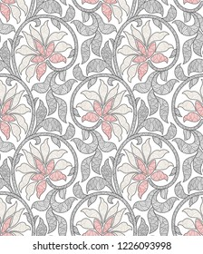 Beautiful Abstract Decorative Floral Seamless Pattern