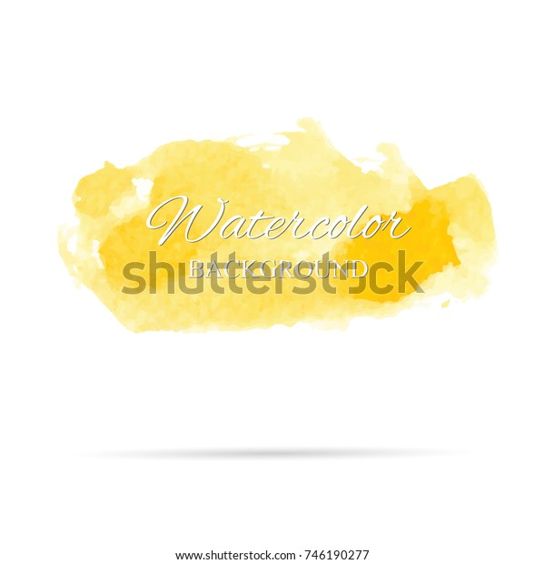 beautiful abstract gold watercolor art hand paint on white background,brush textures for logo.There is a place for text.Perfect stroke design for headline.luxury boutique Illustrations.