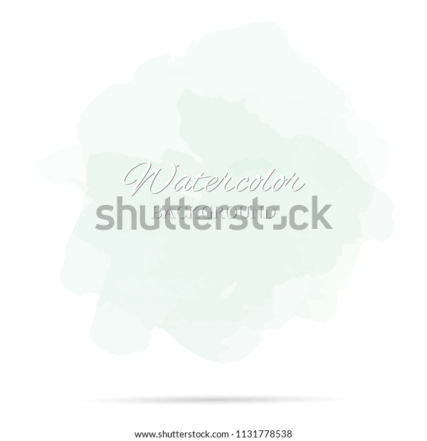 beautiful abstract green watercolor art hand paint on white background,brush textures for logo.There is a place for text.Perfect stroke design for headline.luxury boutique Illustrations.