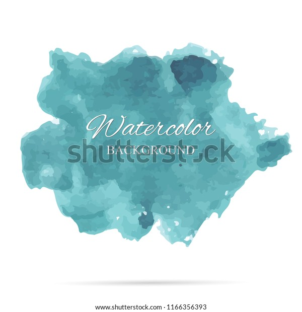 beautiful abstract ocean watercolor art hand paint on white background,brush textures for logo.There is a place for text.Perfect stroke design for headline.luxury boutique Illustrations.