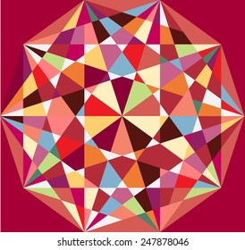 Beautiful abstract pattern. Decagon