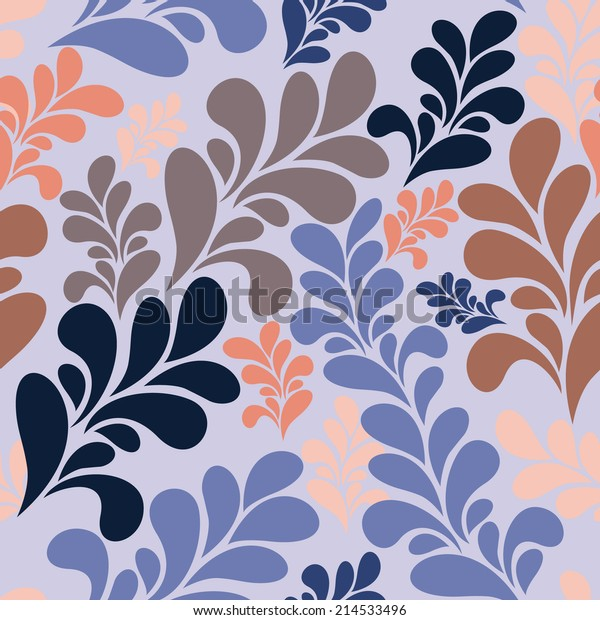 Beautiful Abstract Seamless Pattern Textiles Wallpaper Stock