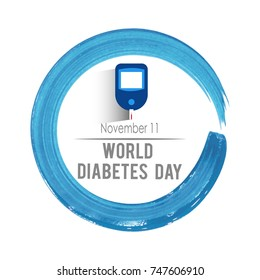 Beautiful abstract for World Diabetes Day - 14th of November - with nice and creative design illustration.