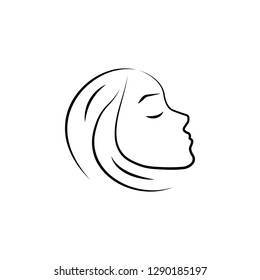 beautiful, aesthetic, cosmetic hand drawn icon on white background