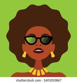 Beautiful African American Woman Portrait