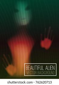 Beautiful alien gradient vector background