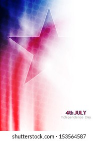 beautiful american flag theme background in wave style for independence day. vector illustration
