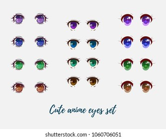 Beautiful anime eyes collection.