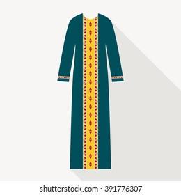 94e0de5bd Beautiful Arabian Abaya Flat Style Muslim Stock Vector (Royalty Free ...