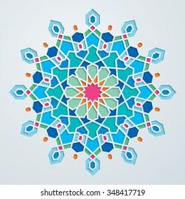 Beautiful arabic geometric pattern