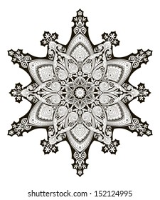 A beautiful Arabic middle eastern floral pattern motif, based on Ottoman ornament