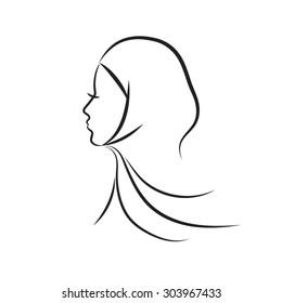 Hijab Sketch Images Stock Photos Vectors Shutterstock