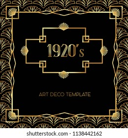 Beautiful Art Deco vector template