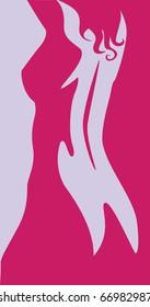 beautiful artwork nude woman silhouette