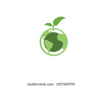 Beautiful and attractive logo icon in green color