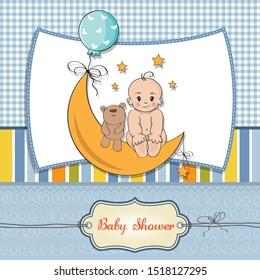 beautiful baby boy shower card