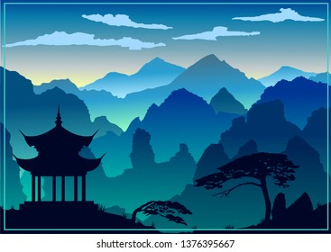 Beautiful background of the Asian culture and nature