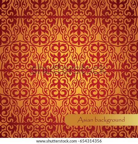 Beautiful Background Asian Patterns Backdrop Background Stock Vector Classy Asian Patterns