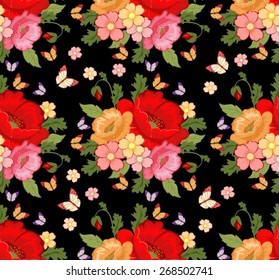Beautiful background with colorful flowers. Floral background.