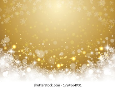Beautiful background of glittering snowflakes, Christmas
