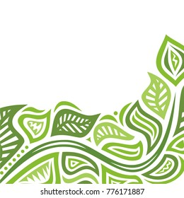 Beautiful background of leaves. Vector illustration.