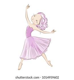 5f2f39b95295 Beautiful ballerina in classical tutu Graceful little dancer The girl