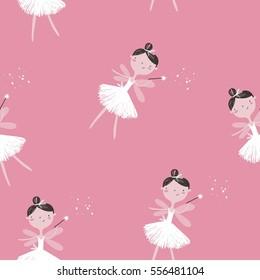 beautiful ballerina vector print
