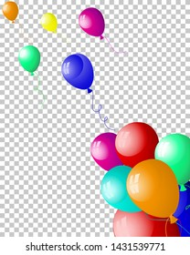 Beautiful balloons in the air. Vector illustration.