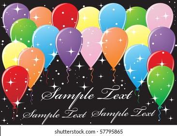 Beautiful balloons illustration