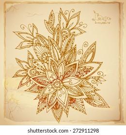 Beautiful batik flower background