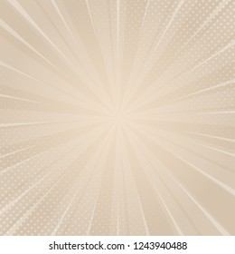 Beautiful beige sunburst background