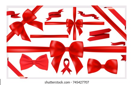 Beautiful big set of red ribbons for a great designs VECTOR