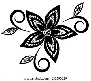 Flower parts images stock photos vectors shutterstock beautiful black and white floral pattern design element many similarities to the authors profile mightylinksfo