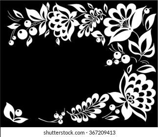Flowers Corners Black Images Stock Photos Vectors Shutterstock,Breast Cancer T Shirt Designs