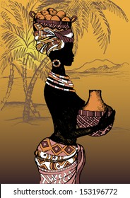 Beautiful black woman. African woman