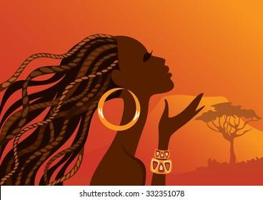 Beautiful black woman. African woman.