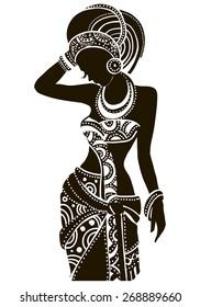 Beautiful black woman.African woman