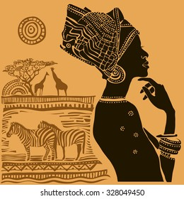 Beautiful black woman.African woman.