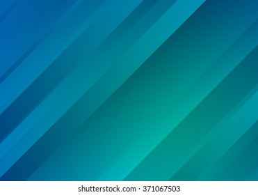 Beautiful Blue and Green Background with Gradient Stripes. Abstract Geometric Bg. Vector Banner Texture.