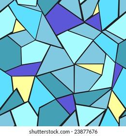 Beautiful blue mosaic. Vector illustration