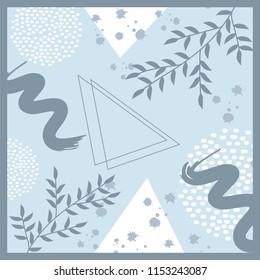 beautiful blue scarf pattern