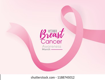 Beautiful breast cancer awareness campaign background with pink ribbon symbol and space for text
