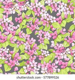 Beautiful bright floral seamless illustration
