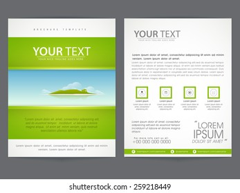 Beautiful brochure, flyer or template design based on Ecological concept, Including front and back page presentation.